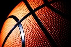 Macro di una pallacanestro Fotografia Stock Libera da Diritti