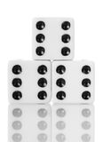 Macro dice game isolated on white Royalty Free Stock Photography