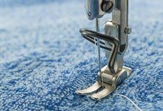 Macro dicht van naaimachine Royalty-vrije Stock Afbeelding