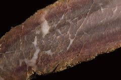 Macro dichte omhooggaand van een stuk van vleestextuur Royalty-vrije Stock Afbeelding