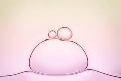 Macro dichte omhooggaand van zeepbels Stock Afbeeldingen
