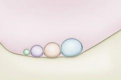 Macro dichte omhooggaand van zeepbels Stock Afbeelding