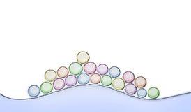 Macro dichte omhooggaand van zeepbels Royalty-vrije Stock Afbeelding