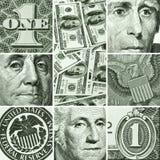 Macro die van de dollars van de V.S. wordt geplaatst Royalty-vrije Stock Foto
