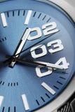 Macro die van het detail van het horlogegezicht wordt geschoten Stock Foto's