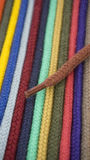 Macro from different color cord Stock Photography