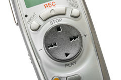 Macro of digital dictaphone Stock Images