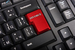 Macro Divorce key Royalty Free Stock Photo