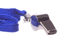 Macro do assobio isolado Foto de Stock Royalty Free
