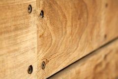 Macro do banco de madeira imagem de stock