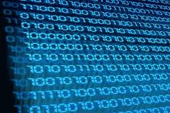Macro do código binário Imagens de Stock