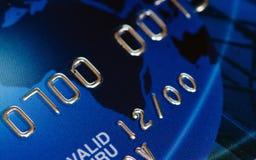 Macro do cartão de crédito Imagens de Stock