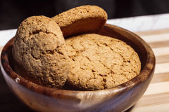 Macro do close up das cookies de farinha de aveia Foto de Stock Royalty Free