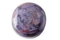 Macro do corindo mineral Ruby Sapphire no fundo branco foto de stock