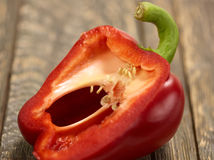 Macro do corte da pimenta de Bell Fotografia de Stock
