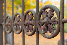 Macro do detalhe da cerca do ferro Fotografia de Stock Royalty Free