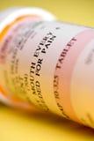 Macro do frasco da medicamentação Imagem de Stock