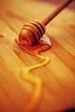 Macro do mel do ouro Imagem de Stock Royalty Free