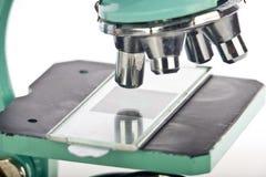 Macro do microscópio das lentes e da corrediça Imagem de Stock