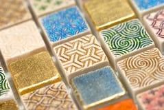 Macro do mosaico Imagem de Stock Royalty Free