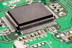Macro do processador do â do circuito de computador Foto de Stock Royalty Free