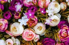 Macro do ramalhete das flores artificiais Fotografia de Stock