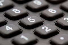 Macro do teclado da calculadora Fotografia de Stock