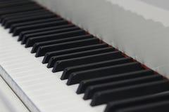 Macro do teclado de piano Imagens de Stock Royalty Free