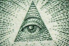 Macro Dollar Eye Stock Images
