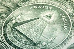 Macro Dollar Eye Stock Photo