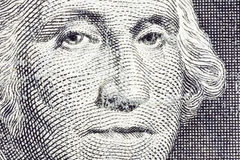 Macro Dollar US Bill de George Washington Photo libre de droits