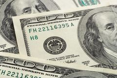 Macro of dollars. Business background Stock Image