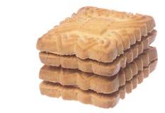 Macro dos biscoitos isolado Imagens de Stock Royalty Free