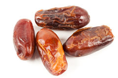 Macro of dried dates Stock Image