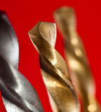 Macro of drill bits Stock Image