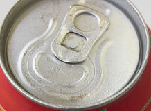 Macro of drink can. Macro shot of a cool drinks can stock photos