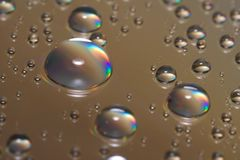 Macro drops on CD stock images
