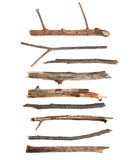 Macro dry branches isolated on white. Background, with clipping path, (high resolution Stock Photography