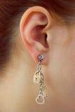 Macro of earring Royalty Free Stock Photography