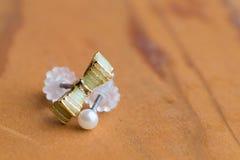 Macro Earrings Stock Photo