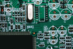 Macro of electronic chip Stock Images