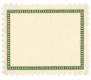 Macro em branco da vinheta do verde do selo de porte postal do vintage Imagem de Stock Royalty Free