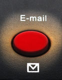 Macro of an email button Stock Images