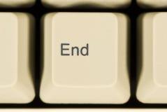 Macro of END Key on Computer Keyboard Stock Image