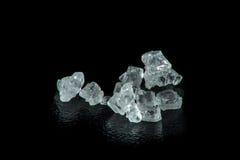 Macro estupenda de los cristales de un azúcar imágenes de archivo libres de regalías