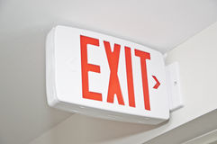 Macro Exit sign Stock Image