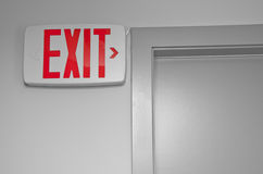 Macro Exit sign Royalty Free Stock Photos