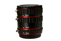 Macro extender lens Stock Image