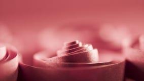 Macro, extracto, imagen del fondo de espirales de papel rojos Imagenes de archivo