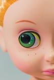 Macro eye girl doll Royalty Free Stock Photo